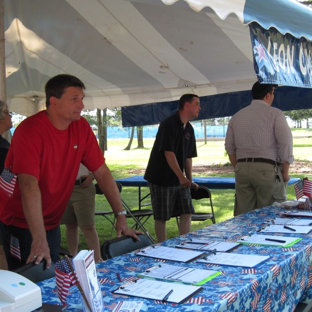 Mark at voter registration event 2010